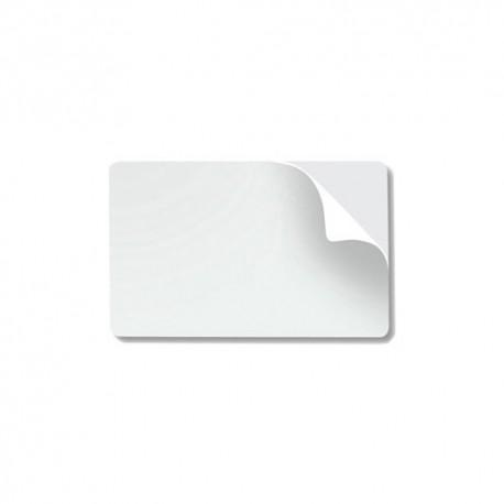 Tarjetas CR80.10 mil adhesivo