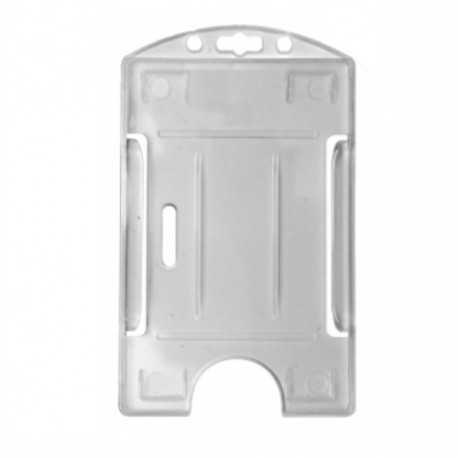 Portacredencial vertical rígido transparente