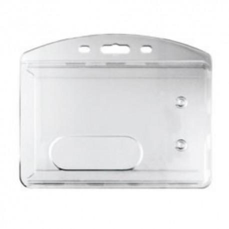 Portacredencial horizontal rígido transparente