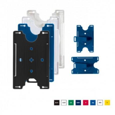 Porta credenciales rígidos dos posiciones con clip giratorio