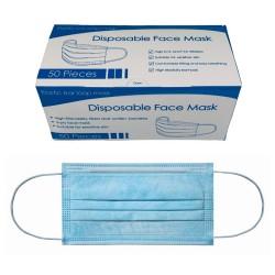 Mascarilla desechable 3 pliegues (50 unidades)